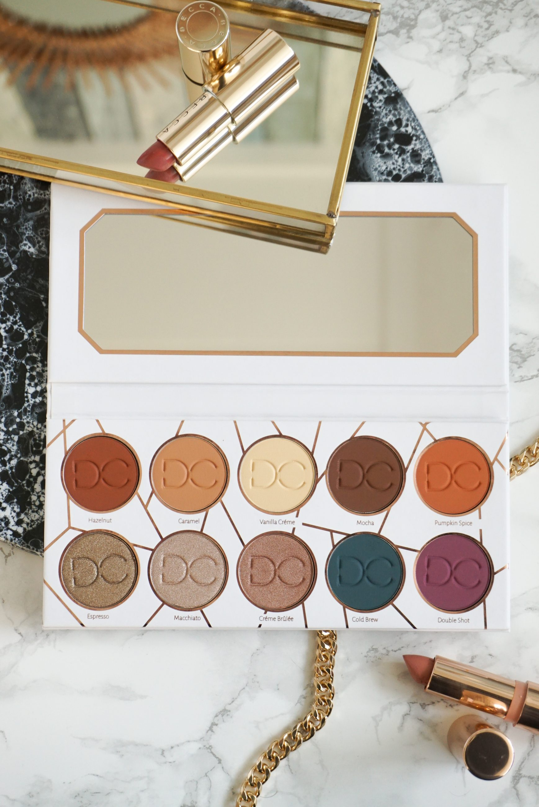 Coffee Inspired 10-Pan Dominique Cosmetics The Latte Eyeshadow Palette Review