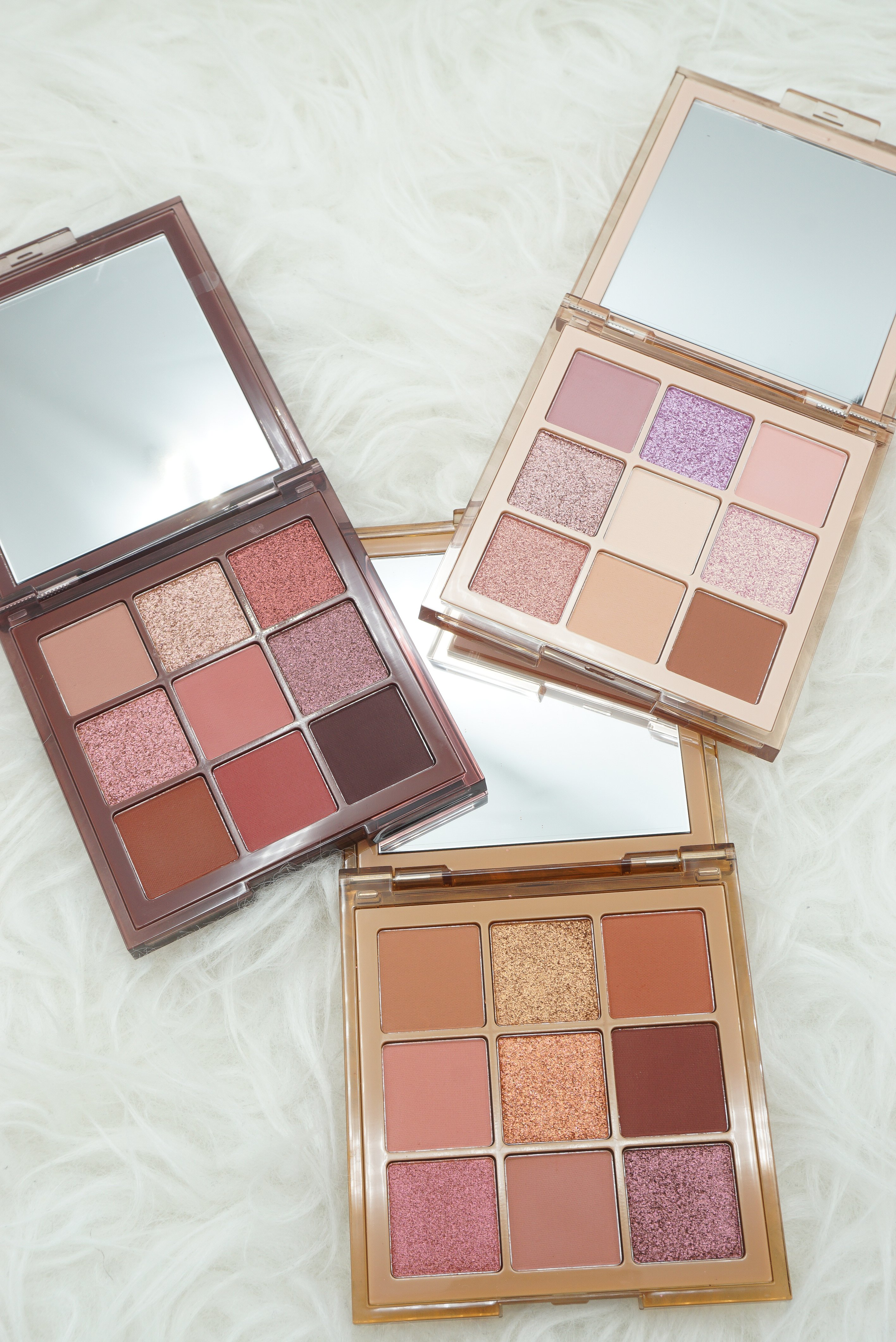 Huda Beauty Nude Obsessions Palettes   All 3 palettes Review & Swatches