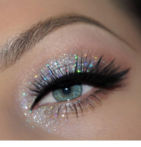 10 Most Amazing Glitter Eyeshadow Looks