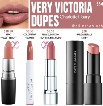 Charlotte Tilbury Very Victoria Dupes