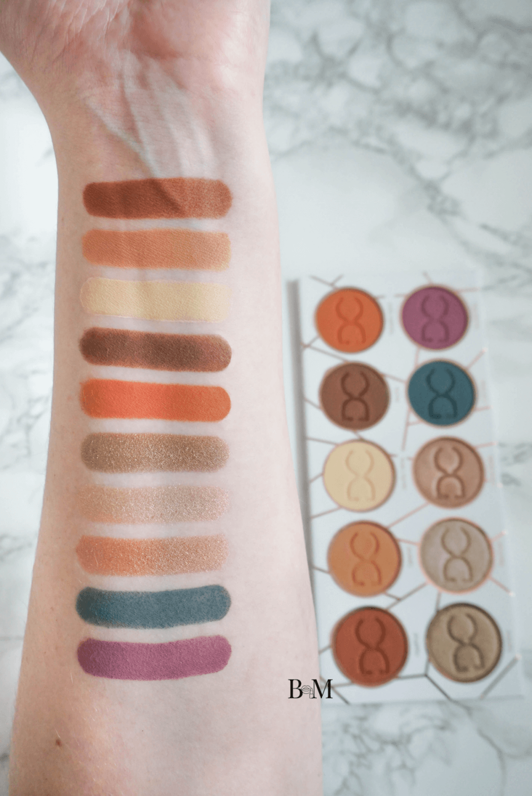 Coffee Inspired 10-Pan Dominique Cosmetics The Latte Eyeshadow Palette Review ⋆ Beautymone